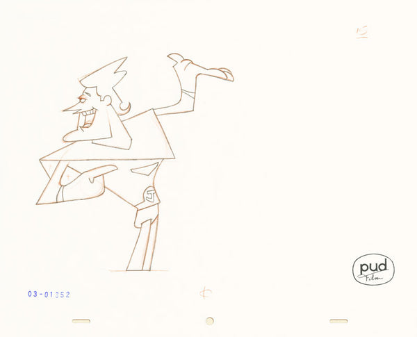 Jim Dewicky - animation production drawing - Jax shows things