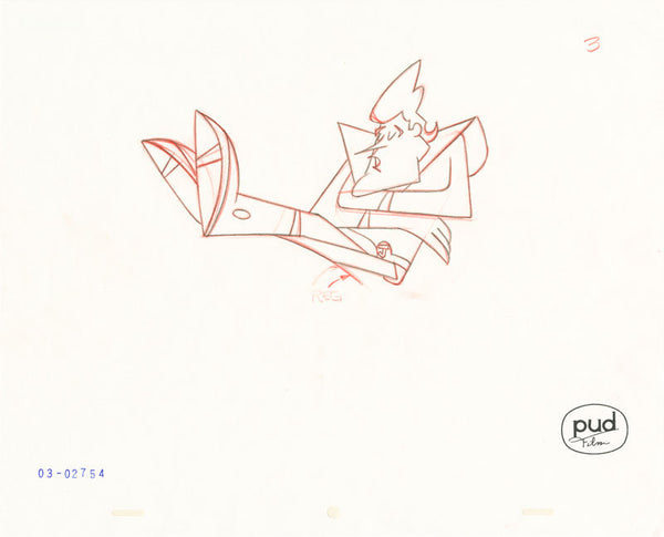 Jim Dewicky - animation production drawing - Jax sleepa