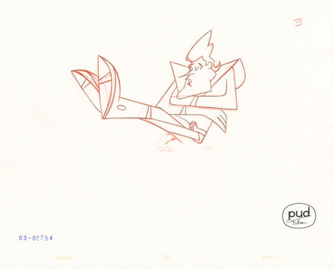 "Spaceman Jax - ""Planetary Profits"" -  Jim Dewicky - animation production drawing - Jax sleepa - by Curio & Co. (Curio and Co. OG) www.curioandco.com"