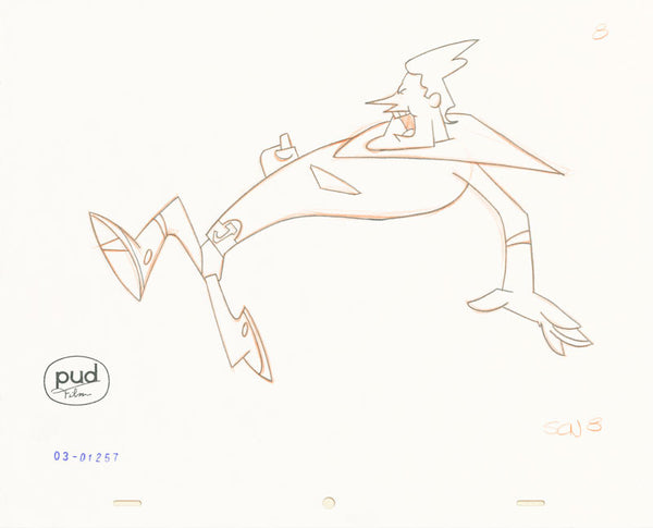 Jim Dewicky - animation production drawing - Jax runs