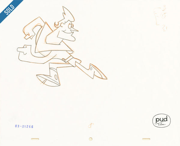 Jim Dewicky - animation production drawing - Jax run