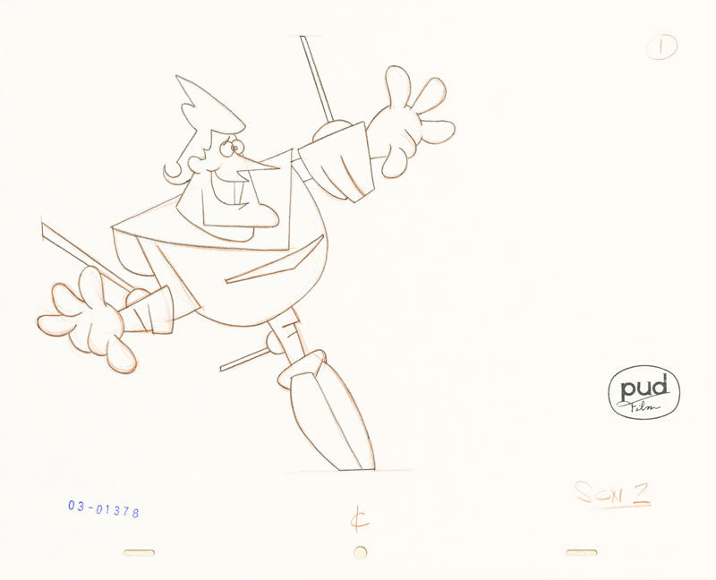 Jim Dewicky - animation production drawing - Jax in robot death lock