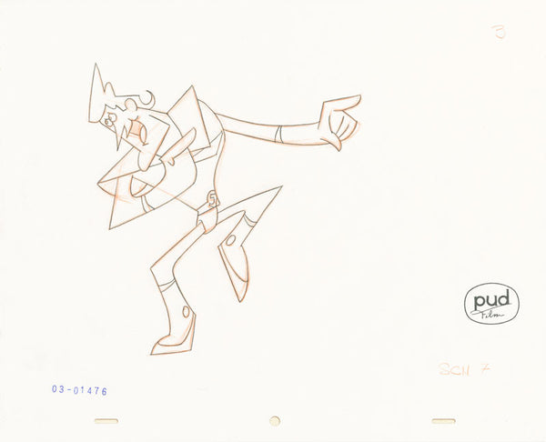 Jim Dewicky - animation production drawing - Jax points things out