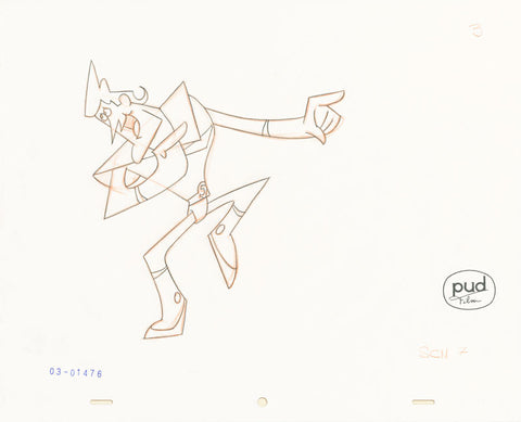 "Spaceman Jax - ""Red Gets the Blues"" 2 -  Jim Dewicky - animation production drawing - Jax points things out - by Curio & Co. (Curio and Co. OG) www.curioandco.com"