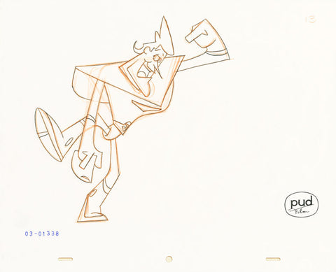 "Spaceman Jax - ""One Starry Day"" 2 -  Jim Dewicky - animation production drawing - Jax shows off - by Curio & Co. (Curio and Co. OG) www.curioandco.com"