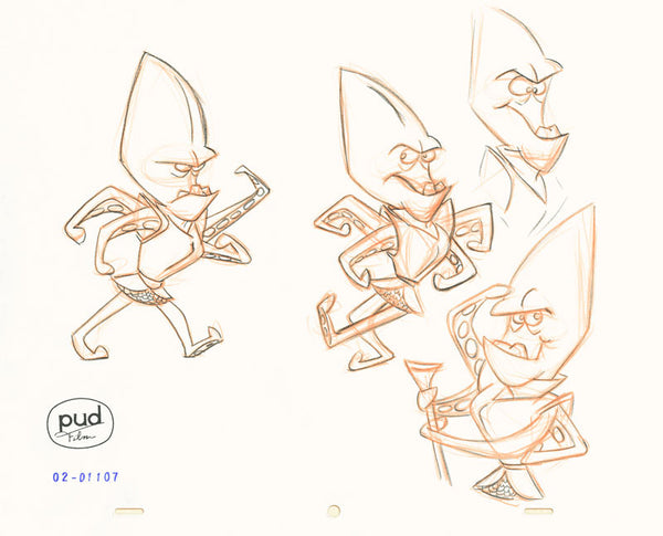 Jim Dewicky - production drawing - various mantagon poses