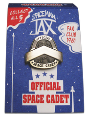 Spaceman Jax - Space Cadet - Spaceman Jax Fanclub Pin - 1961 - pin with bronze finish in package  - by Curio & Co. (Curio and Co. OG) www.curioandco.com