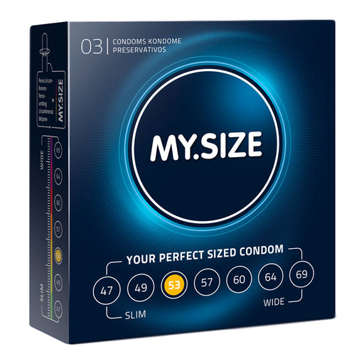 My.Size Natural Latex Condom 53 Width 3 PCS