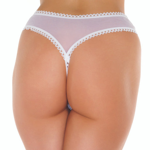 White Open Crotch GString