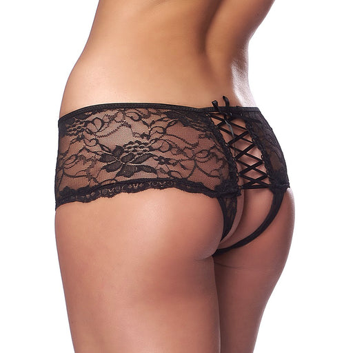 Spicy Black Crotchless Briefs