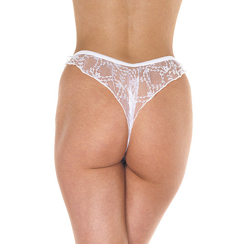 White Brazilian Open Briefs