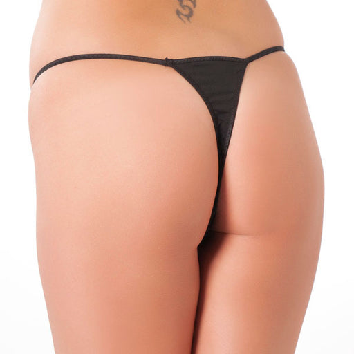 Sexy Black Bow Crotchless GString