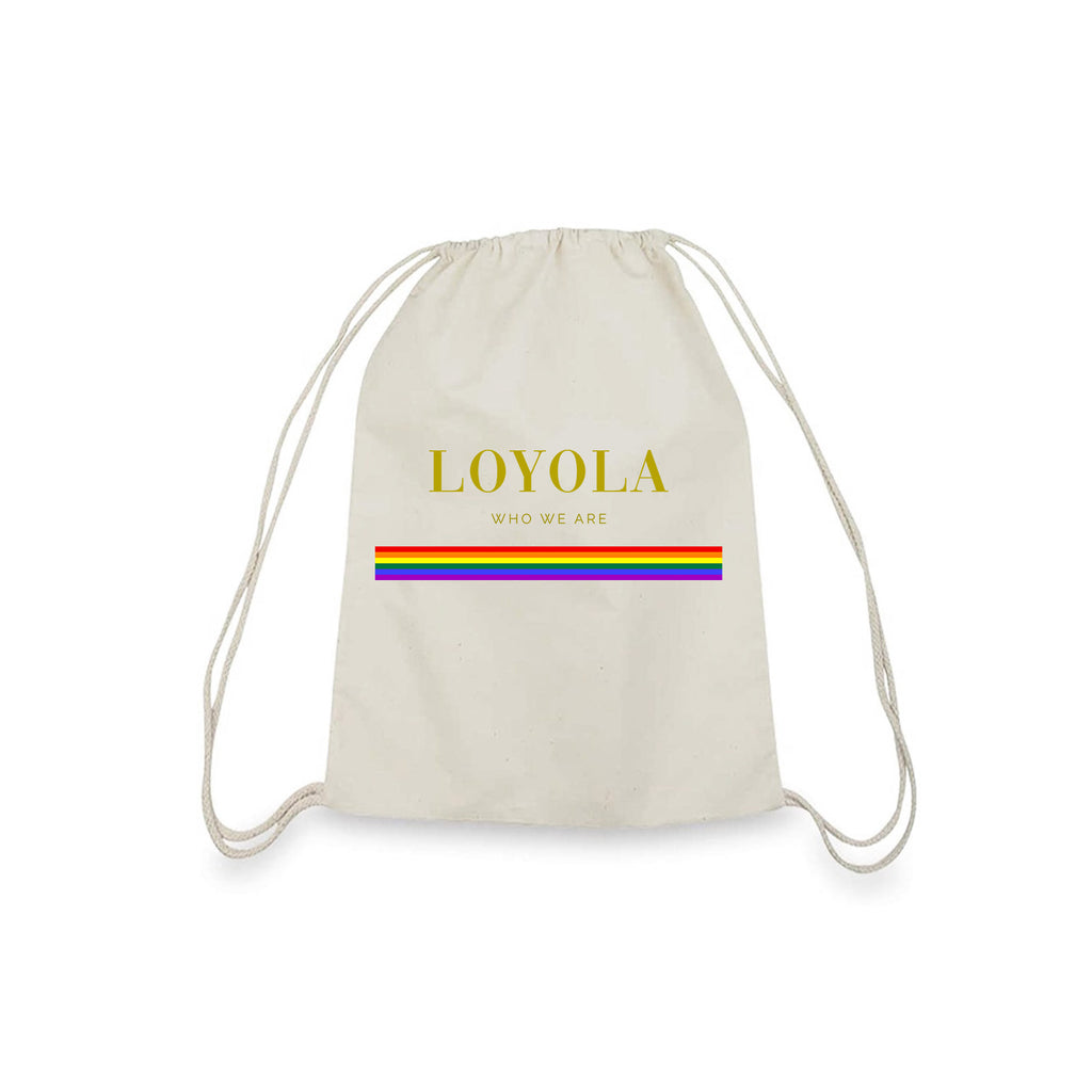 Rainbow Bag | Canvas Drawstring Bag