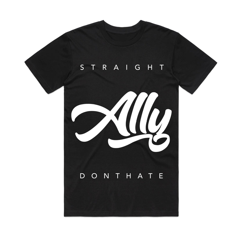 T-shirt | Straight Don't Hate (Black)