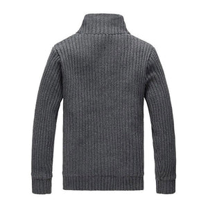 Men Casual Sweater Fleece Button Cardigans Coats