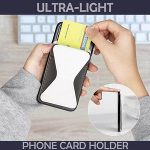 Magnetic Sticky Foldable Phone Card Holder