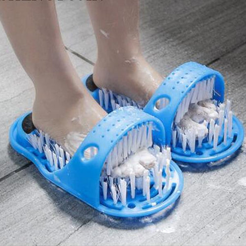 Bathroom Foot Rubbing Cleaning Brush Slippers