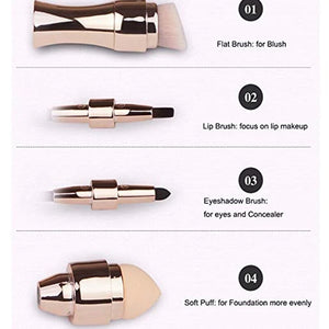 4 in 1 4 Different Heads Foundation Cosmetic Makeup Brush