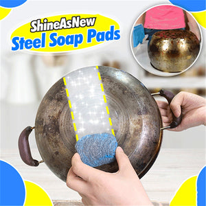 5pcs Multi-Use Steel Wool Soap Pads