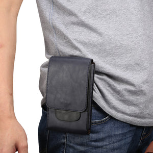Men Waist Bag Leather 6.5/6.3 inch Cell/Mobile Phone Coin Purse