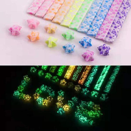 Luminous Star Origami Set 10Color/210Pcs/Set