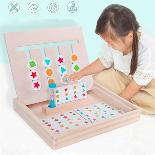 Matching Building Blocks Children's Educational Game Wooden Toy