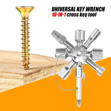 Load image into Gallery viewer, 10 In 1 Universal Triangle Key Wrench