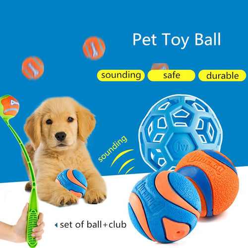 Portable Dog Balls Toy Sound Teeth Bite For Large Small Dogs Interactive Pet Accessories