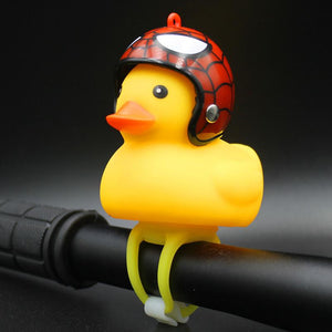 Cute Bicycle Small Yellow Duck with Helmet