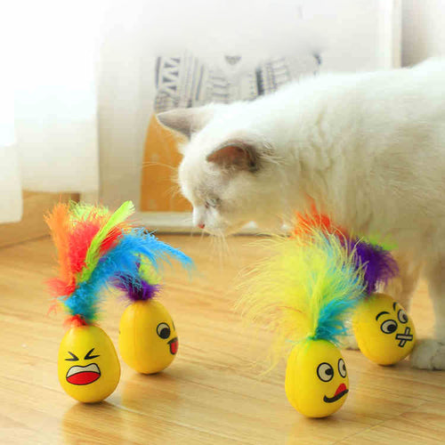 Cat Toy Expression Feather Tumbler