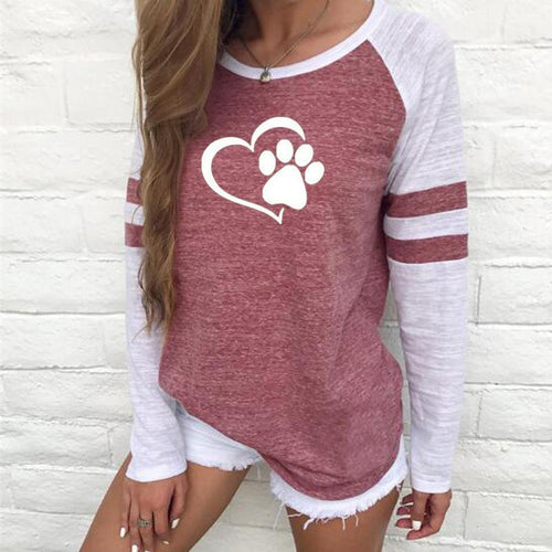 Printed Long Sleeve Women's Plus Size Autumn Sweatshirts