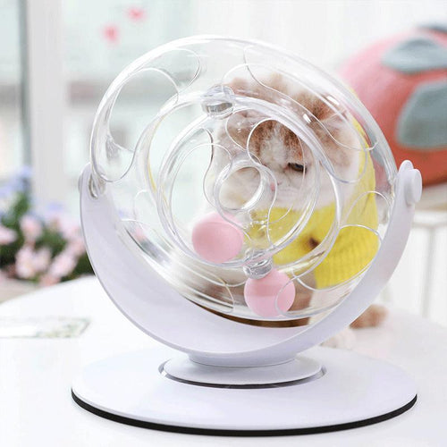 Plastics Turntable with Ball Funny Puzzle Cat Toy