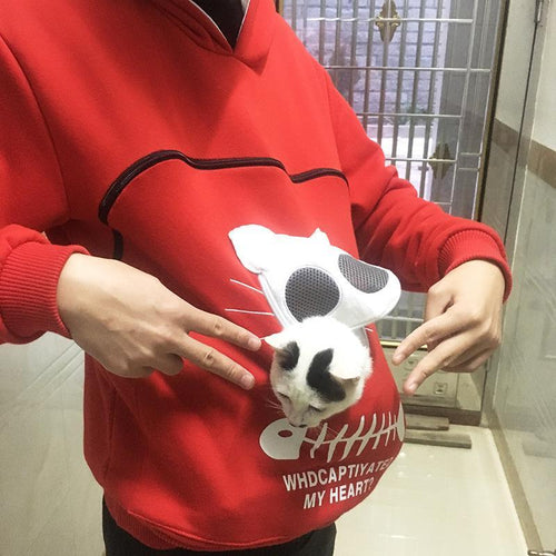 Pet Pouch Hood Tops Sweatshirt