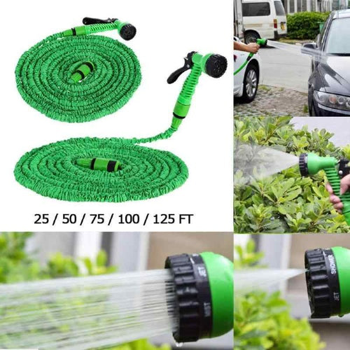 Expandable Garden Magic Hose Telescopic Water Pipe Irrigation Watering Spray Car Wash Pressure Gun