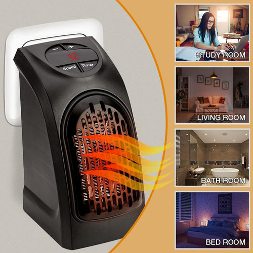 Electric Wall Heater Mini Portable Plug-in Personal Space Warmer