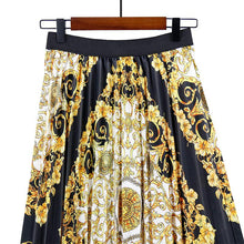 Load image into Gallery viewer, Date Elegant Printed Pleated Skirt
