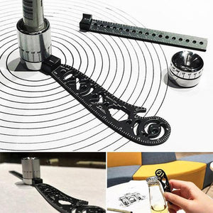Versatile Portable Design Tool Multi-function Drawing Rulers
