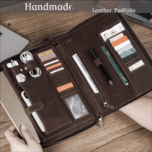 Load image into Gallery viewer, Handmade Vintage Padfolio