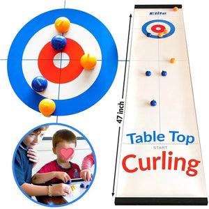 Table Top Curling Game Family Games for Kids and Adults