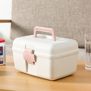 First Aid Kit Emergency Household Portable Medicine Storage Box