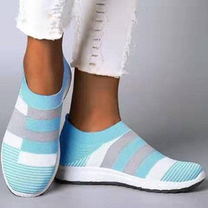 Women Casual Splicing Breathable Knit Flat Sneakers