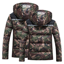 Load image into Gallery viewer, Men Fashion Hooded Camouflage Warm Winter Coats