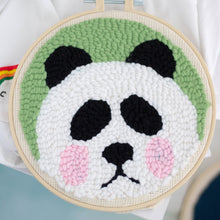 Load image into Gallery viewer, DIY Punch Needle Embroidery Kit-Panda