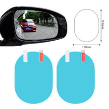 Load image into Gallery viewer, 2PCS/Set Anti Fog Car Mirror Window Clear Film Anti rain Car Rearview Mirror Protective Film Waterproof Rainproof Car Sticker