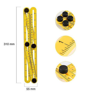 Irregular Four-sided Folding Ruler