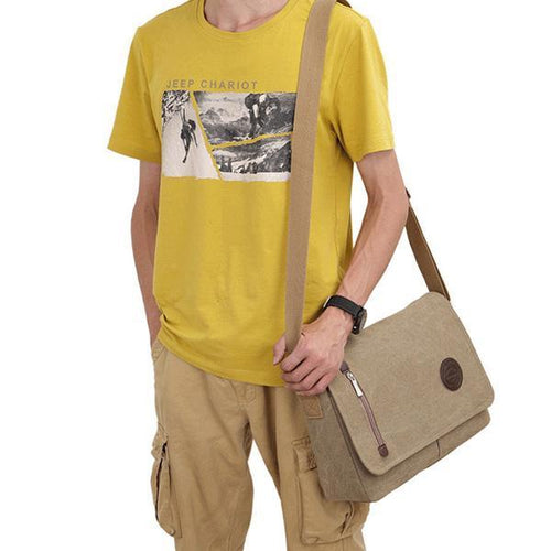 Men's Retro Waterproof Canvas Crossbody Bag