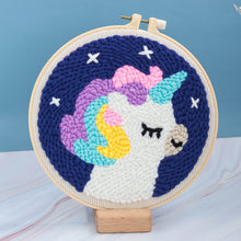 Load image into Gallery viewer, DIY Punch Needle Embroidery Kit-Starry Sky Unicorn
