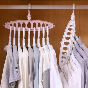 Plastic Scarf Clothes Hangers Multi-port Support Circle Multifunction Storage Racks