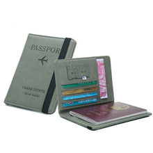 Load image into Gallery viewer, Multi-function Ultra-thin Travel Cover Case RFID Wallet Passport Bag
