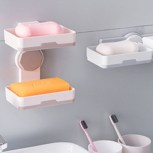 Double Layer Rotatable Soap Box